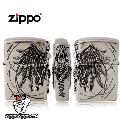 Bật lửa Zippo chính hãng phiên bản giới hạn Stereo badge Amazons