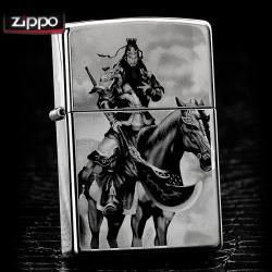 Bật lửa Zippo chính hãng Quan tướng công cưỡi ngựa - Mã SP: ZPC0046