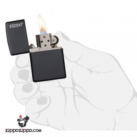 Bật lửa zippo chính hãng sơn dầu màu đen