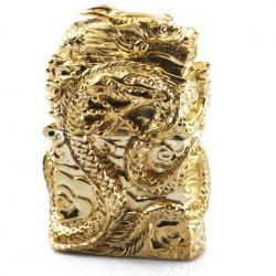 Bật lửa Zippo chính hãng  vàng mạ nguyên một con rồng quấn quanh bật lửa tinh xảo - Mã SP: ZPC0015