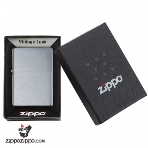 bật lửa Zippo chính hãng Vintage bạc xước 1937