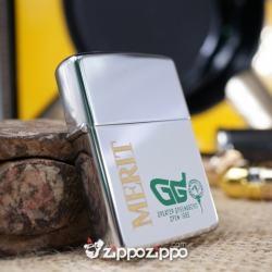 bật lửa zippo cổ dòng chữ Merit sản xuất năm 1981 - Mã SP: ZPC1555