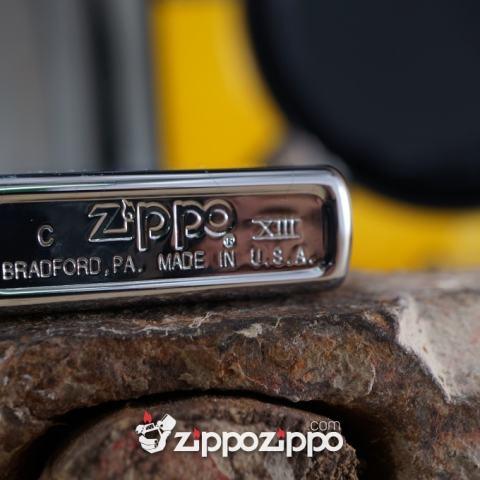 bật lửa zippo cổ mầu bạc khắc camel
