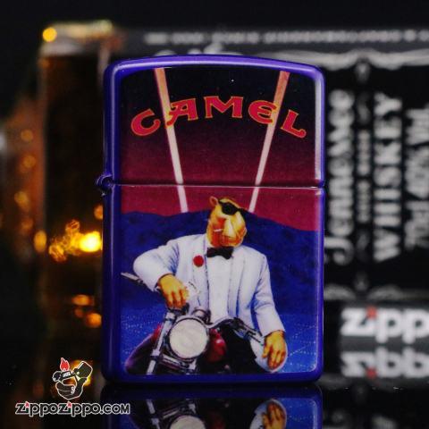Bật lửa Zippo Cổ Màu Xanh Đen Camel (1994)