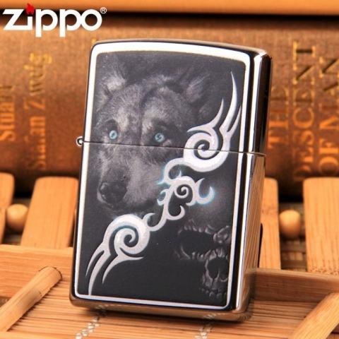 Bật lửa Zippo đôi mắt sói xanh