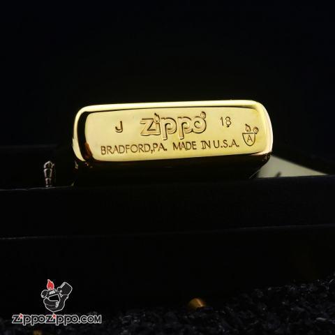 Bật Lửa Zippo Đồng Bản Armor Khắc Cá Chép Vượt Vũ Môn