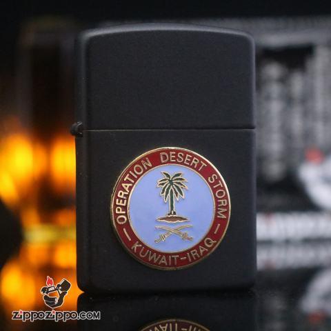 Bật Lửa ZIppo Gắn Huy Hiệu Operation Desert Storm