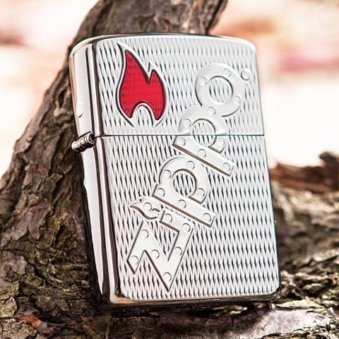 Bật lửa Zippo khắc chữ Zippo nổi