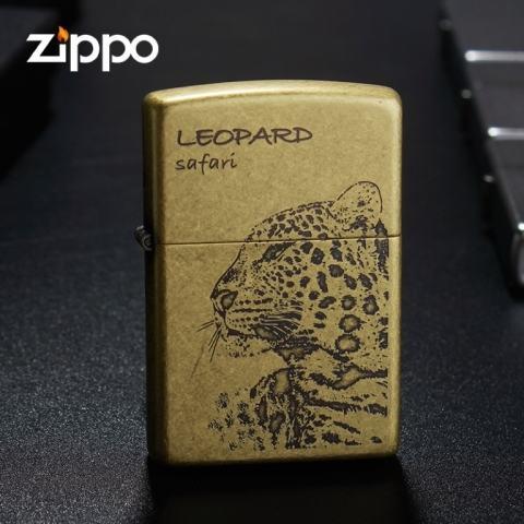 Bật lửa Zippo khắc hình báo phiên bản Leopard