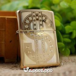 BÂT LỬA ZIPPO KHẮC HOA VĂN USD - Mã SP: ZPC1486