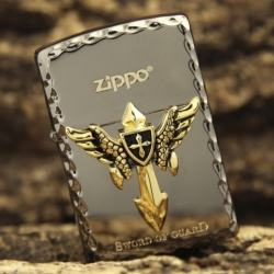 Bật lửa ZIppo khắc nổi huy hiệu Sword of Guard - Mã SP: ZPC0414