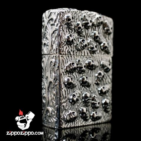 Bật lửa zippo limited chính hãng chạm khắc họa tiết đầu lâu