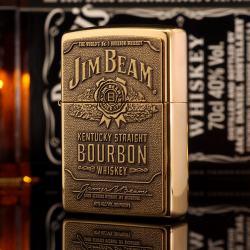 Bật Lửa Zippo Màu Đồng khắc Hãng Rượu Jim Beam - Mã SP: ZPC1908