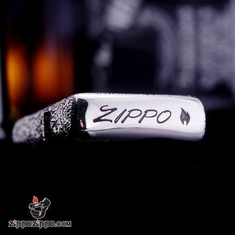 Bật lửa Zippo phiên bản Bạc nguyên khối Chạm Khắc Chim Phượng Hoàng