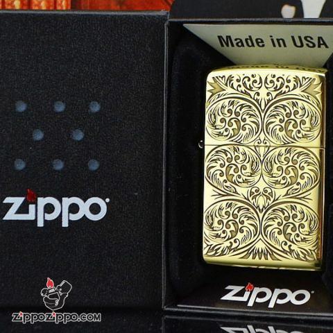 Bật lửa Zippo phiên bản chạm khắc nổi mây bao quanh amor