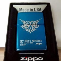 Bật lửa Zippo phiên bản Original tái bản huy hiệu trái tim - Mã SP: ZPC0617