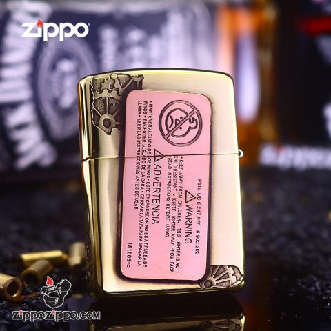 Bật Lửa Zippo Phiên Bản UARANEK Màu Vàng Đồng