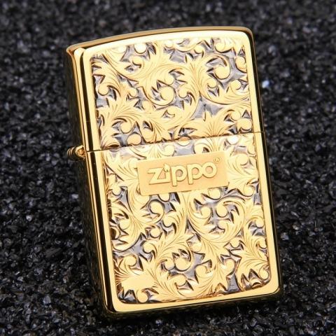 Bật lửa Zippo trạm khắc hoa văn Silver Wind Arabesque