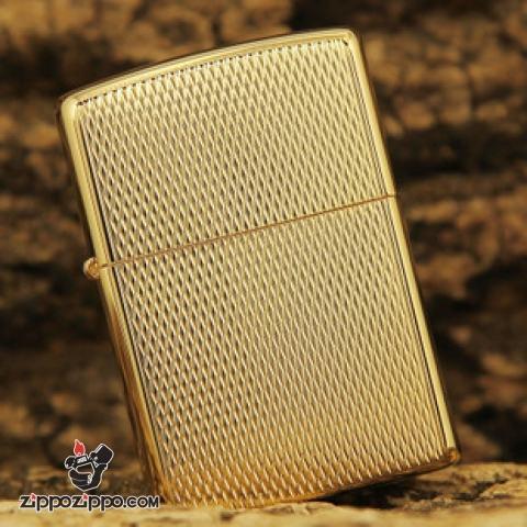 Bật Lửa Zippo Windproof Mạ Vàng 24K