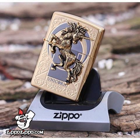 Bật lửa zippo xuất nhật chính hãng họa tiết  ngựa hoang dã Specials