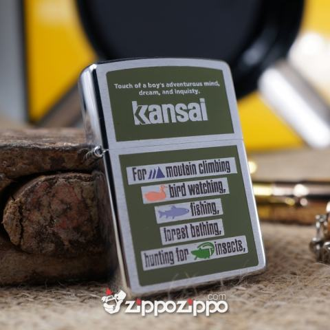 bật ửa zippo cổ kansan sản xuất năm 1996
