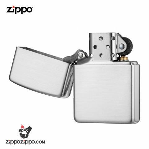 Zippo 13 - Bật lửa zippo chính hãng USA nguyên khối bạc xước