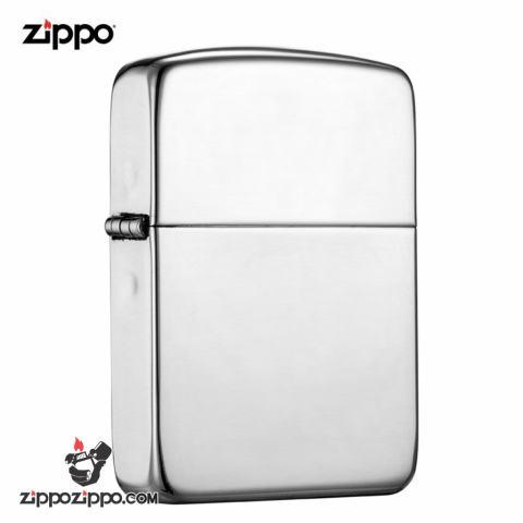 Zippo 23 - Bật lửa zippo chính hãng bạc trơn nguyên khối  phiên bản 1941