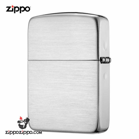 Zippo 24 - Bật Lửa Zippo Bạc Khối Cao Cấp Vân Xước Phiên Bản 1941