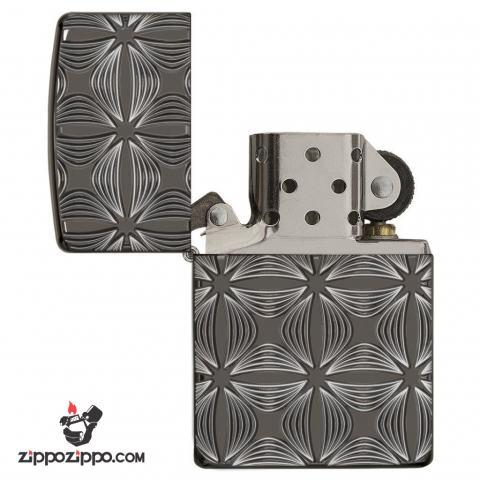Zippo 29665 – Zippo Armor Flower Pattern Black Ice