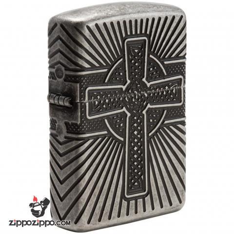 Zippo 29667 – Zippo Armor Multicut Celtic Cross and Knot Antique Silver
