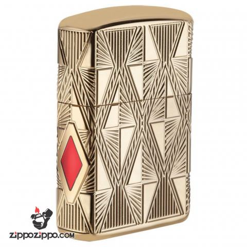 Zippo 29671 – Zippo Luxury Diamond Design High Polish Gold Plate
