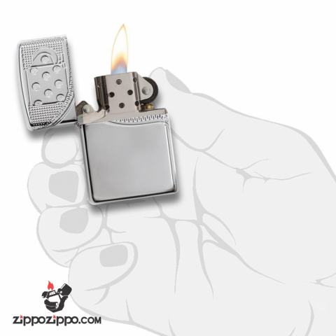 Zippo 29674 – Zippo Armor Multicut Insert Zipper High Polish Chrome