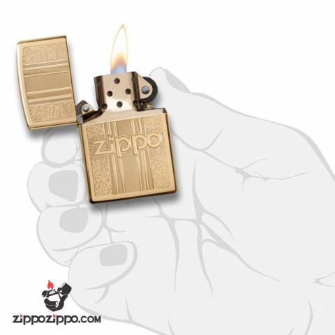 Zippo 29677 – Zippo Engraved Pattern High Polish Brass