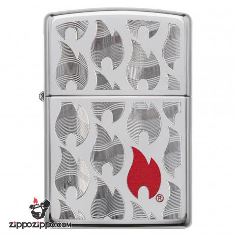 Zippo 29678 – Zippo Flames High Polish Chrome