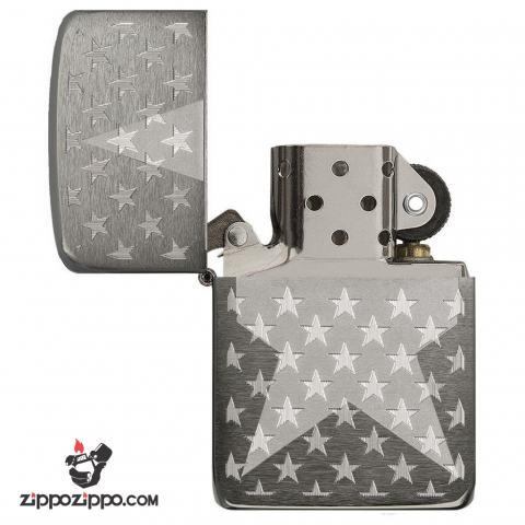 Zippo 29680 – Zippo Stars Replica Engraved Stars Black Ice
