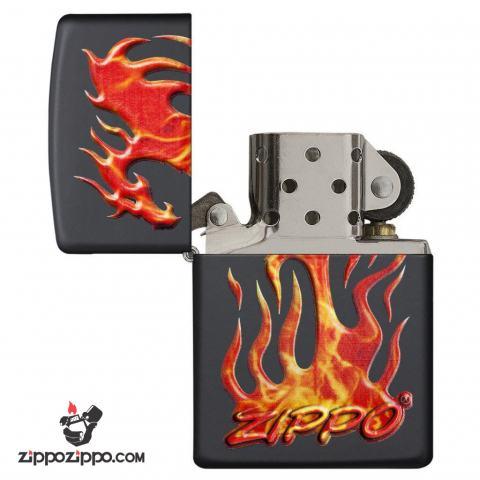Zippo 29735 – Zippo Flaming Dragon Black Matte