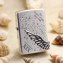 ZIPPO Angel's Wing's xuất hàn phiên bản màu bạc dòng Limited Edition XIX - Mã SP: ZPC2452-3