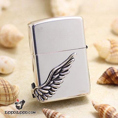 ZIPPO Angel's Wing's xuất hàn phiên bản màu bạc dòng Limited Edition XIX