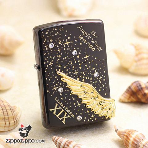 ZIPPO  Angel's Wing's xuất hàn phiên bản màu đen dòng Limited Edition XIX
