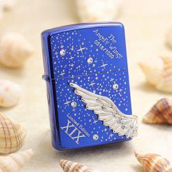 ZIPPO Angel's Wing's xuất hàn phiên bản màu xanh dòng Limited Edition XIX - Mã SP: ZPC2452-2