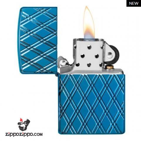Zippo Armor khắc MultiCut hình ảnh chuỗi kim cương xanh