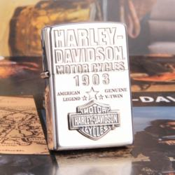 Zippo Chính Hãng Bạc Huy Hiệu Harley Davidson 1903 - Mã SP: ZPC1010