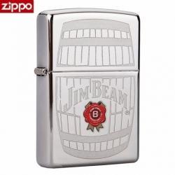 Zippo Chính Hãng Bạc Khắc Logo Hãng Rượu Jim Beam - Mã SP: ZPC1359