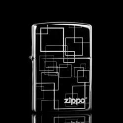 Zippo Chính Hãng Đen Bóng Hình Vuông Ver 2 - Mã SP: ZPC1350