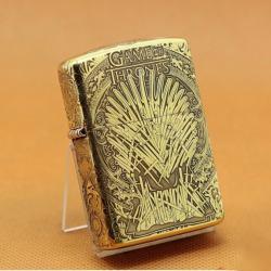 Zippo Chính Hãng Đồng Khắc Game Of Thrones Hoạt tiết Ngàn Kiếm - Mã SP: ZPC1079