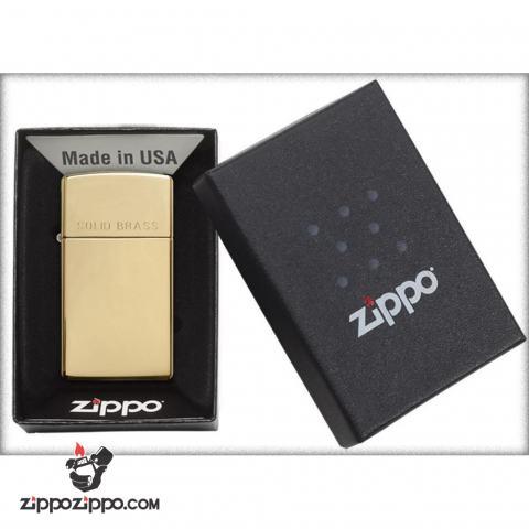 Zippo Chính Hãng Đồng Soid Brass Bản Hẹp