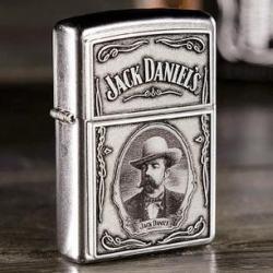 Zippo chính hãng logo hãng rượu JACK DANIELS - Mã SP: ZPC1924