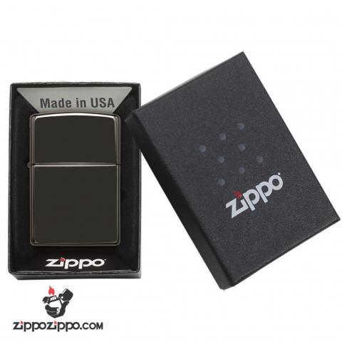 Zippo Chính Hãng Màu Đen Mun