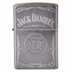 Zippo Chính Hãng Màu Xám Hình Rượu Vang Jack Daniel - Mã SP: ZPC1330