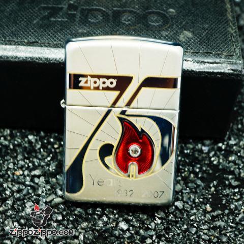 Zippo cổ 75 năm (1932-2007) bản Armor Limited USA